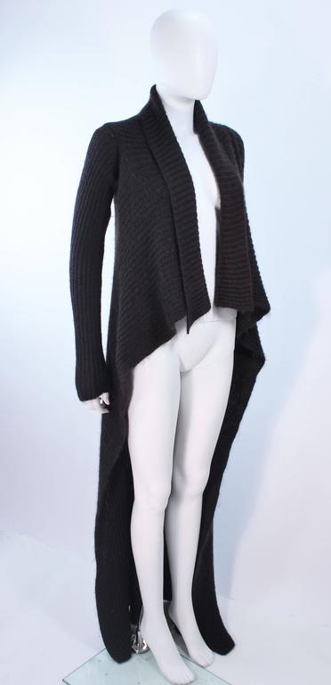 RICK OWENS Brown Knit Draped Sweater Size Small 4