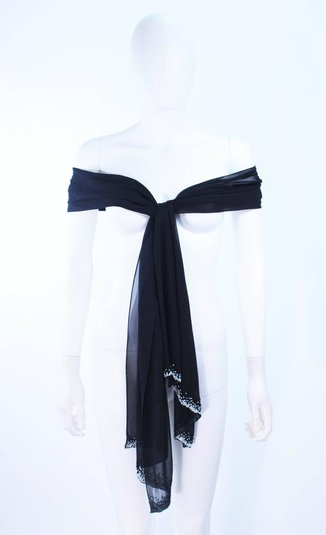 JOVANI Black & White Beaded Gown Size 6 8 10