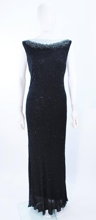 JOVANI Black & White Beaded Gown Size 6 8 2