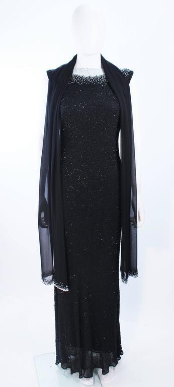 JOVANI Black & White Beaded Gown Size 6 8 3