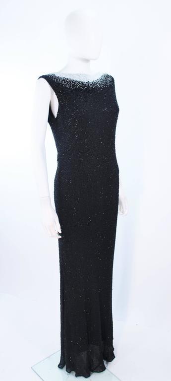 JOVANI Black & White Beaded Gown Size 6 8 6