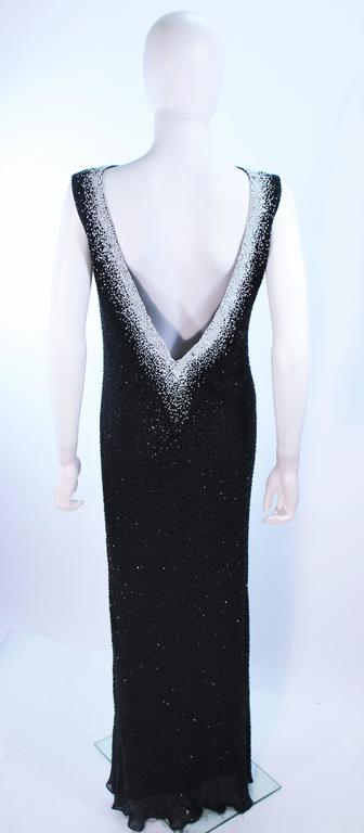 JOVANI Black & White Beaded Gown Size 6 8 8