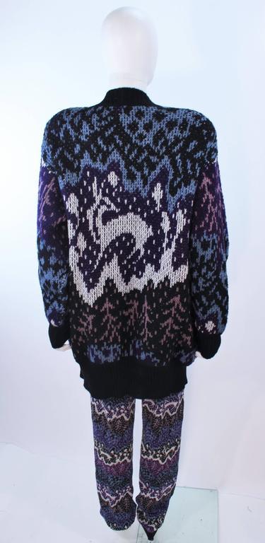 Women's MISSONI Knit Navy Cardigan Pants & Skirt Ensemble Size Large For Sale