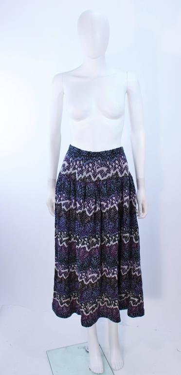 MISSONI Knit Navy Cardigan Pants & Skirt Ensemble Size Large For Sale 3
