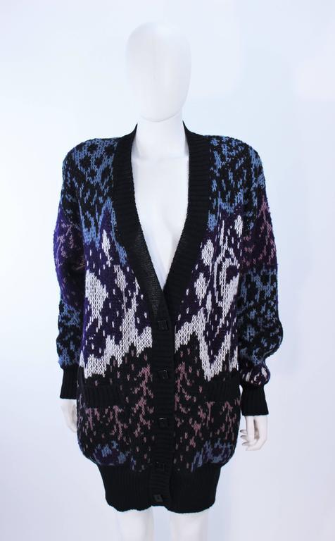 MISSONI Knit Navy Cardigan Pants & Skirt Ensemble Size Large For Sale 2