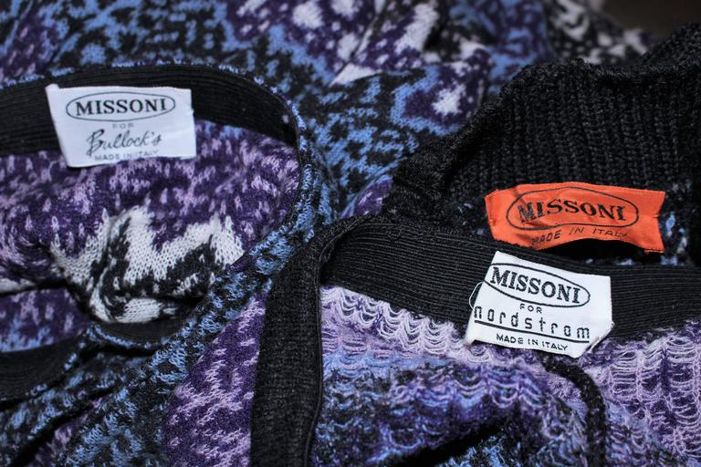 MISSONI Knit Navy Cardigan Pants & Skirt Ensemble Size Large For Sale 4