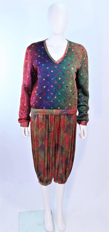 Missoni Silk Rainbow Print Ensemble With Harem Pants