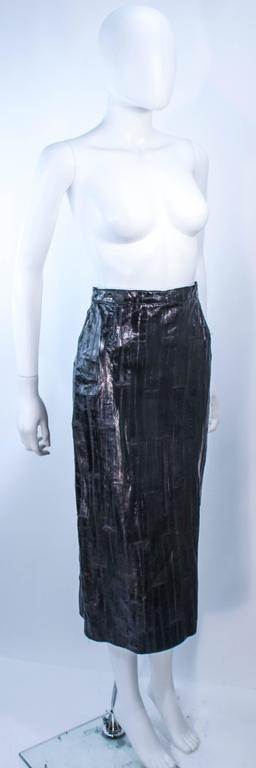 Women's KRIZIA Vintage Black Eel Skirt Size 4 For Sale