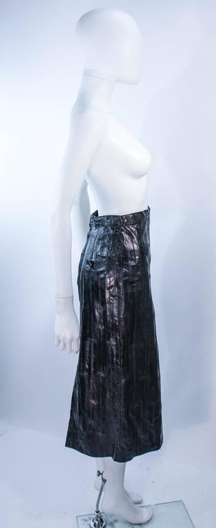 KRIZIA Vintage Black Eel Skirt Size 4 For Sale 3