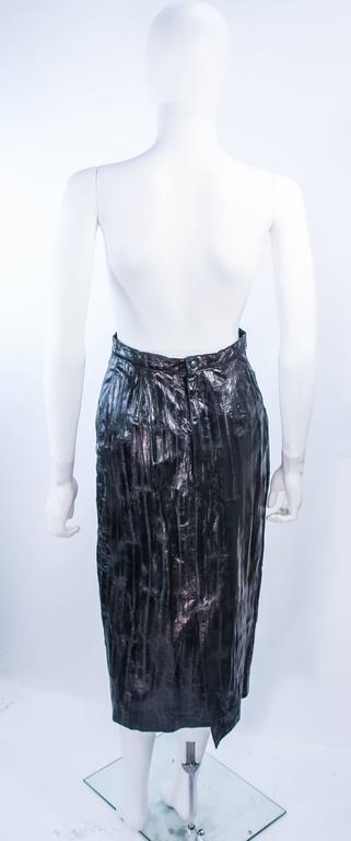 KRIZIA Vintage Black Eel Skirt Size 4 For Sale 5