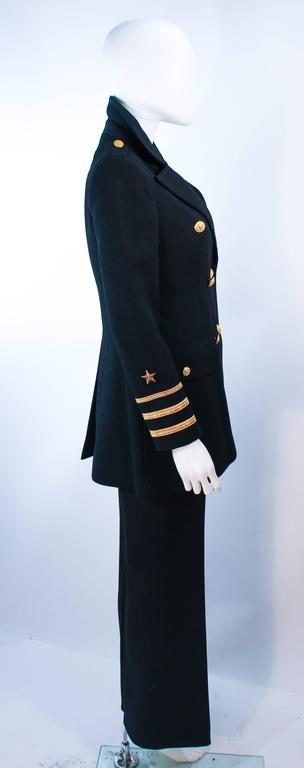 GEINTER PROJECT Black Wool Tailored Sailor Pant Suit Size 6 8 For Sale 3