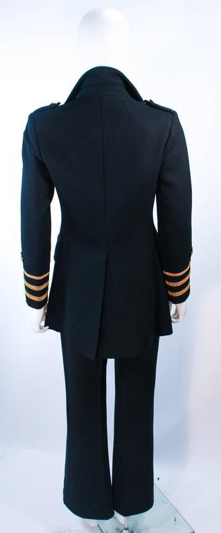 GEINTER PROJECT Black Wool Tailored Sailor Pant Suit Size 6 8 For Sale 4