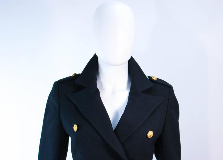 Women's GEINTER PROJECT Black Wool Tailored Sailor Pant Suit Size 6 8 For Sale