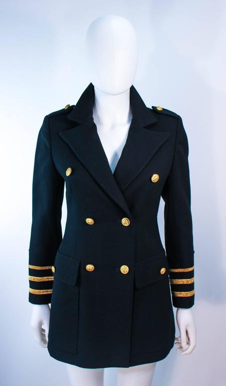 GEINTER PROJECT Black Wool Tailored Sailor Pant Suit Size 6 8 For Sale 5
