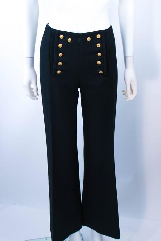 GEINTER PROJECT Black Wool Tailored Sailor Pant Suit Size 6 8 For Sale 6