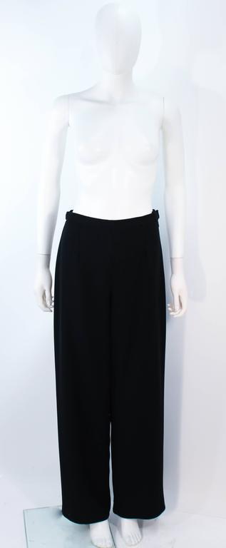 FE ZANDI Vintage Black Floral Bustier Lace Pant Suit Size 8 For Sale 5