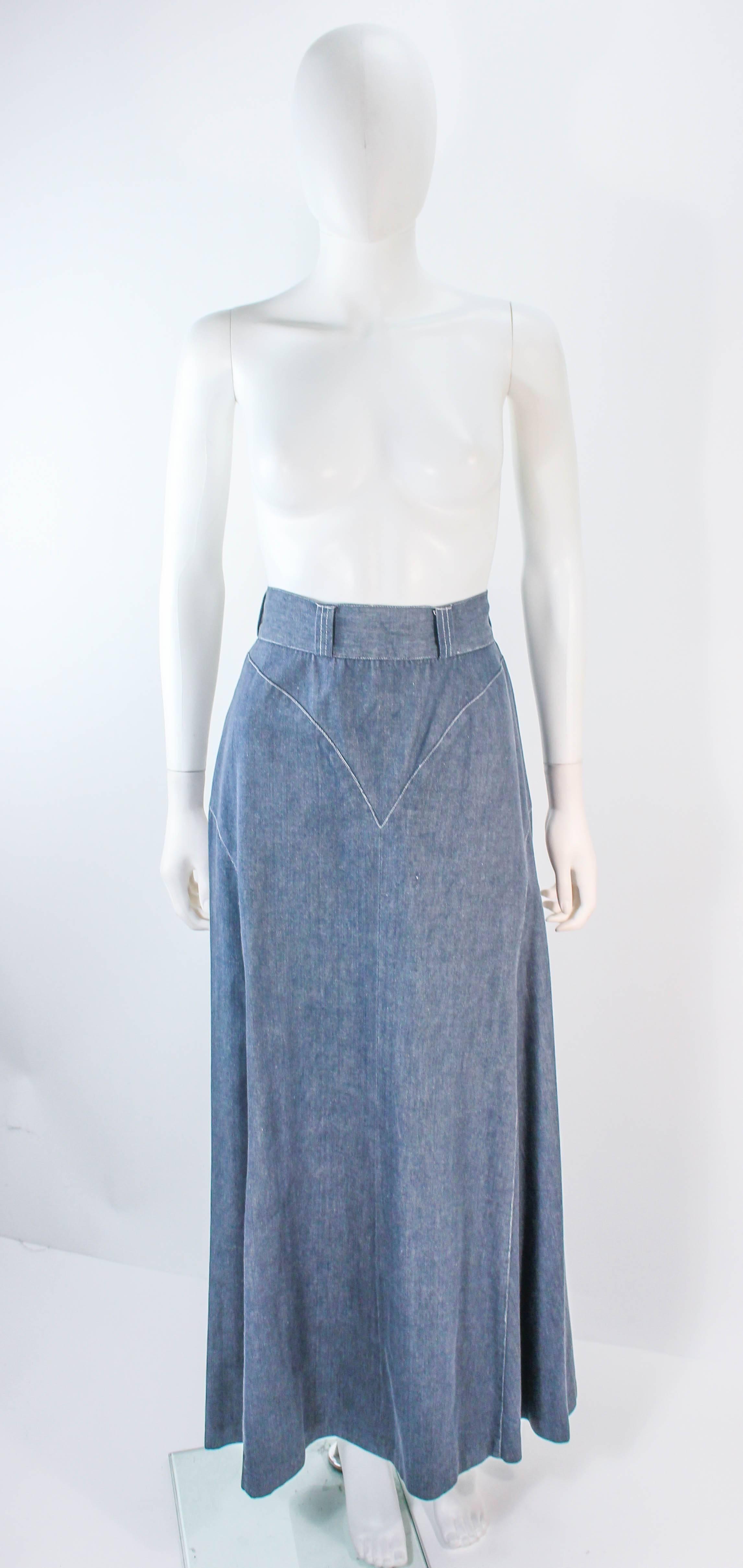 6222863b28 Button Denim Maxi Skirt