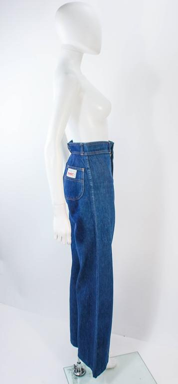 Women's LEVI'S 70's Vintage High Waist Wide Leg Stone Washed Denim Jeans Size 25 For Sale
