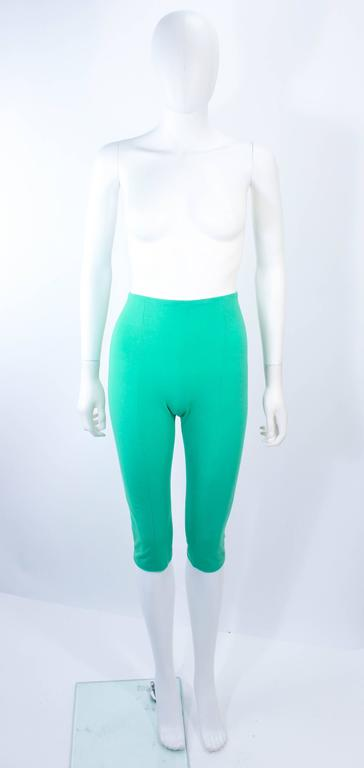 NORMA KAMALI OMO Mint Green Stretch Knit Trapeze Dress and Crop Pants Size M P For Sale 5