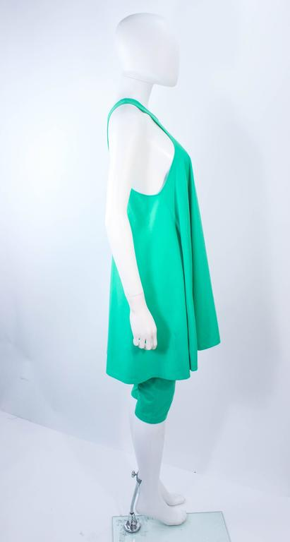 NORMA KAMALI OMO Mint Green Stretch Knit Trapeze Dress and Crop Pants Size M P 6