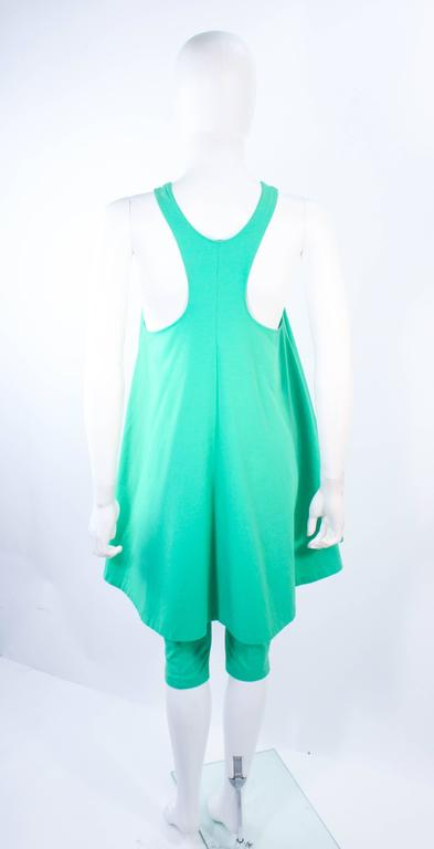 NORMA KAMALI OMO Mint Green Stretch Knit Trapeze Dress and Crop Pants Size M P 7