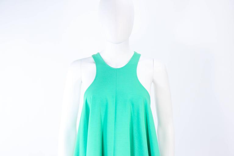 NORMA KAMALI OMO Mint Green Stretch Knit Trapeze Dress and Crop Pants Size M P 4