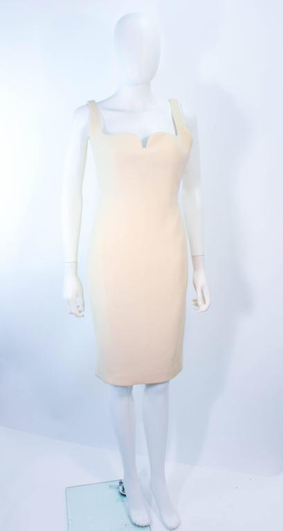Atelier Versace Ivory Crepe Sculpted bust cocktail dress owned by Madonna Size 2 2