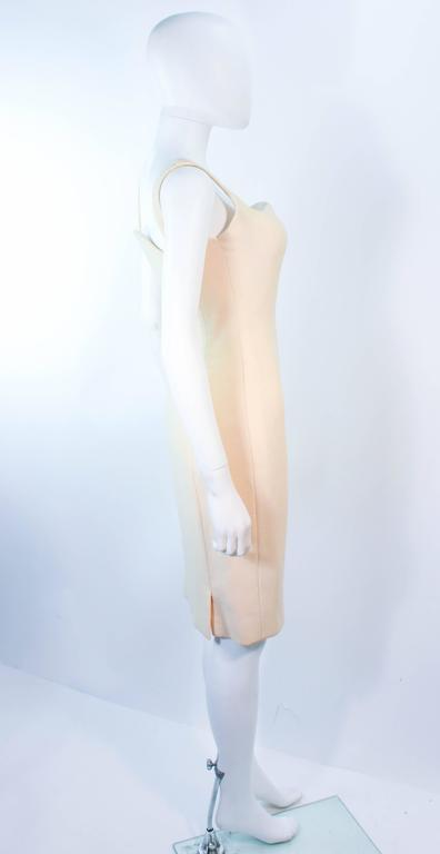 Atelier Versace Ivory Crepe Sculpted bust cocktail dress owned by Madonna Size 2 For Sale 2