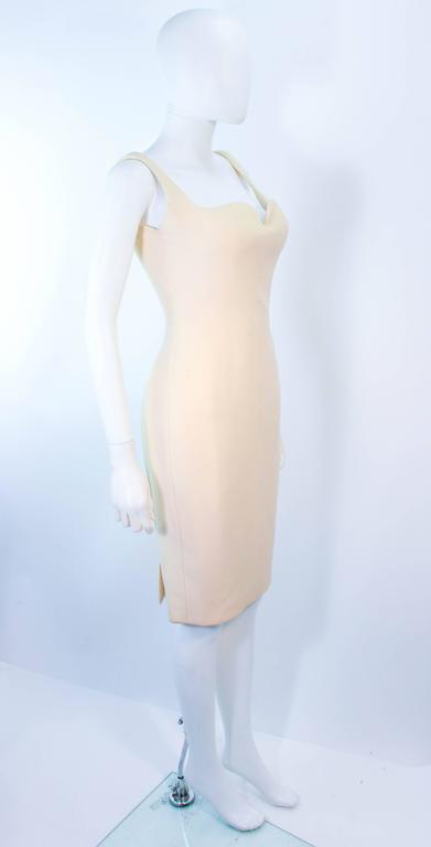 Atelier Versace Ivory Crepe Sculpted bust cocktail dress owned by Madonna Size 2 5