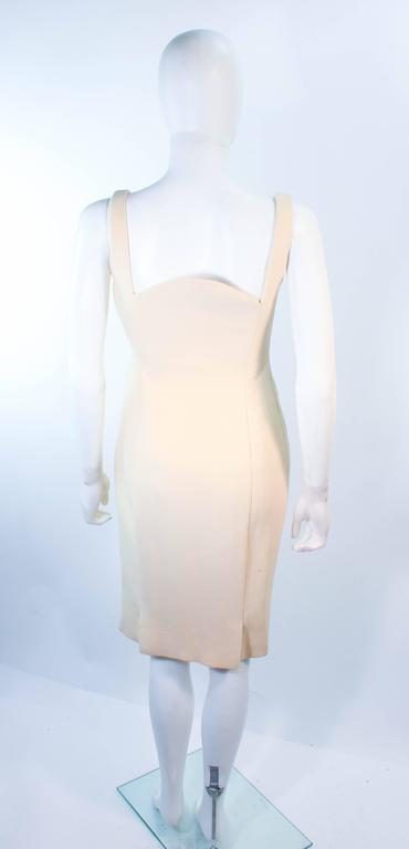 Atelier Versace Ivory Crepe Sculpted bust cocktail dress owned by Madonna Size 2 For Sale 3