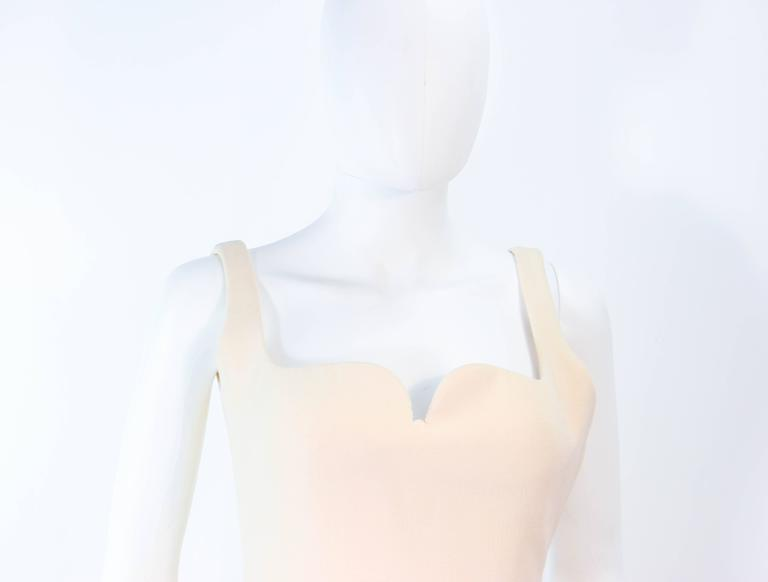 Atelier Versace Ivory Crepe Sculpted bust cocktail dress owned by Madonna Size 2 In Excellent Condition For Sale In Los Angeles, CA