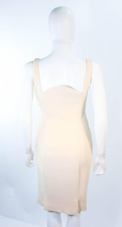 Atelier Versace Ivory Crepe Sculpted bust cocktail dress owned by Madonna Size 2 9
