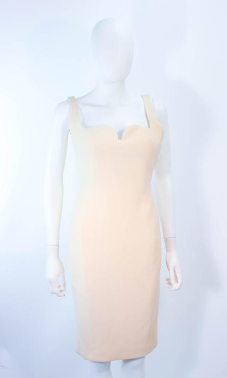 Beige Atelier Versace Ivory Crepe Sculpted bust cocktail dress owned by Madonna Size 2 For Sale