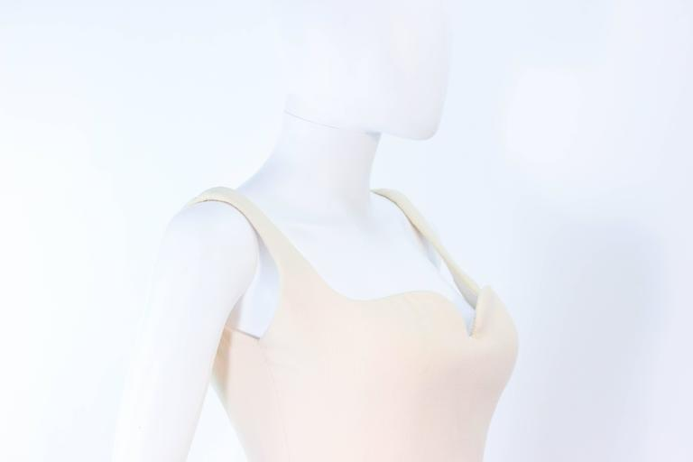 Atelier Versace Ivory Crepe Sculpted bust cocktail dress owned by Madonna Size 2 6