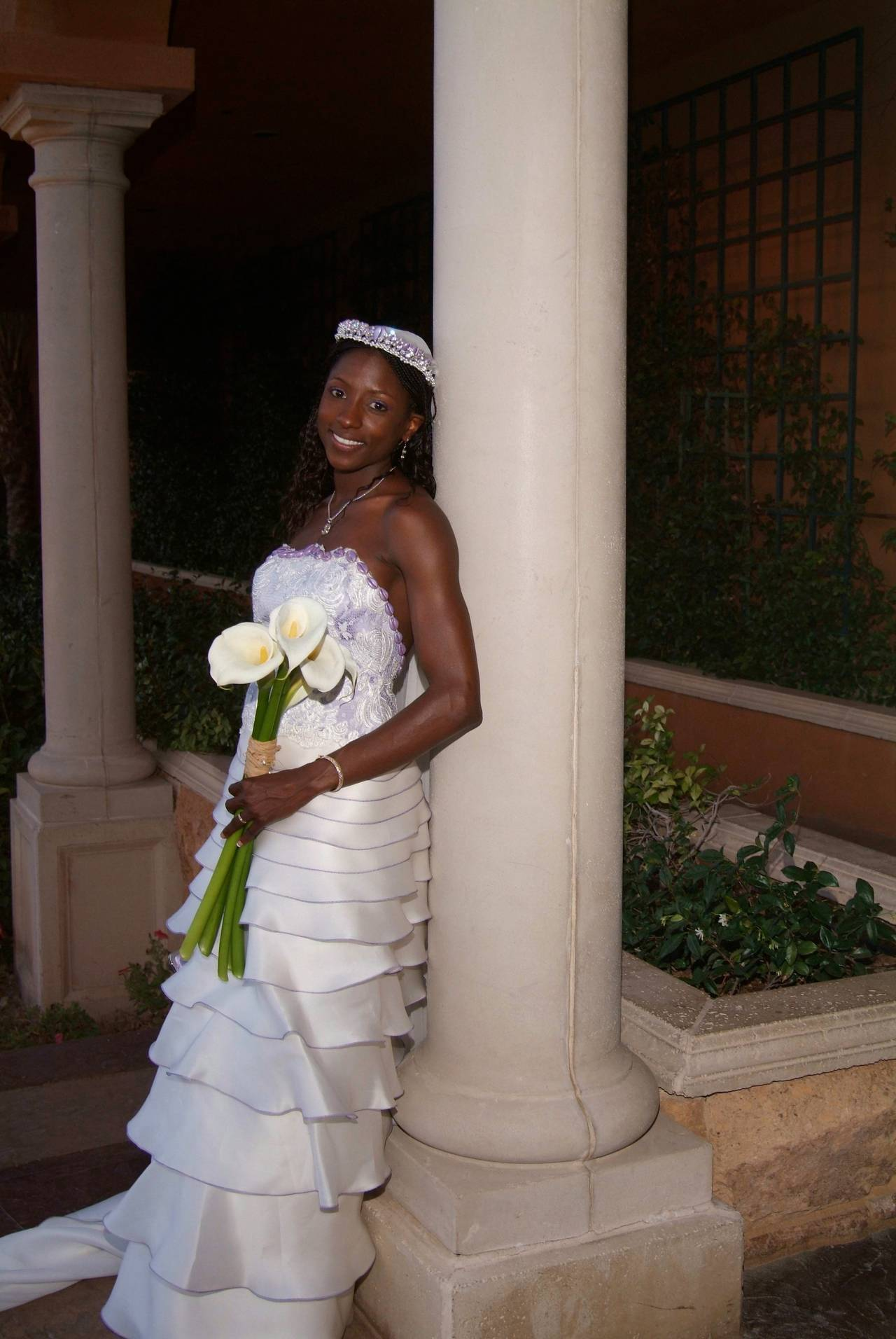 Rutina Wesley S Lavender And Cream Paul Campbell Couture