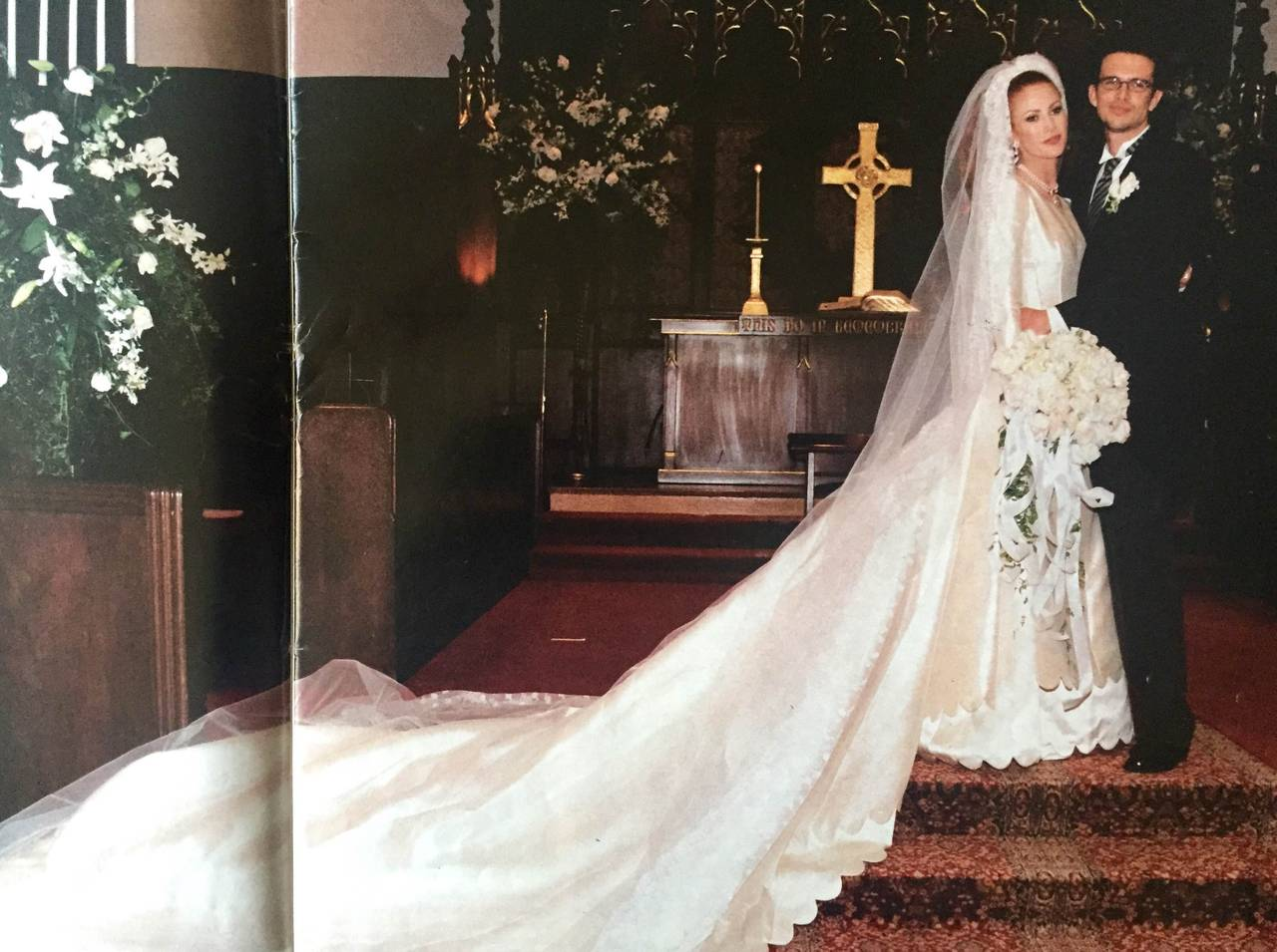 Gray Valentino 1996 Haute Couture Wedding Gown with Valentino Sketches For Sale