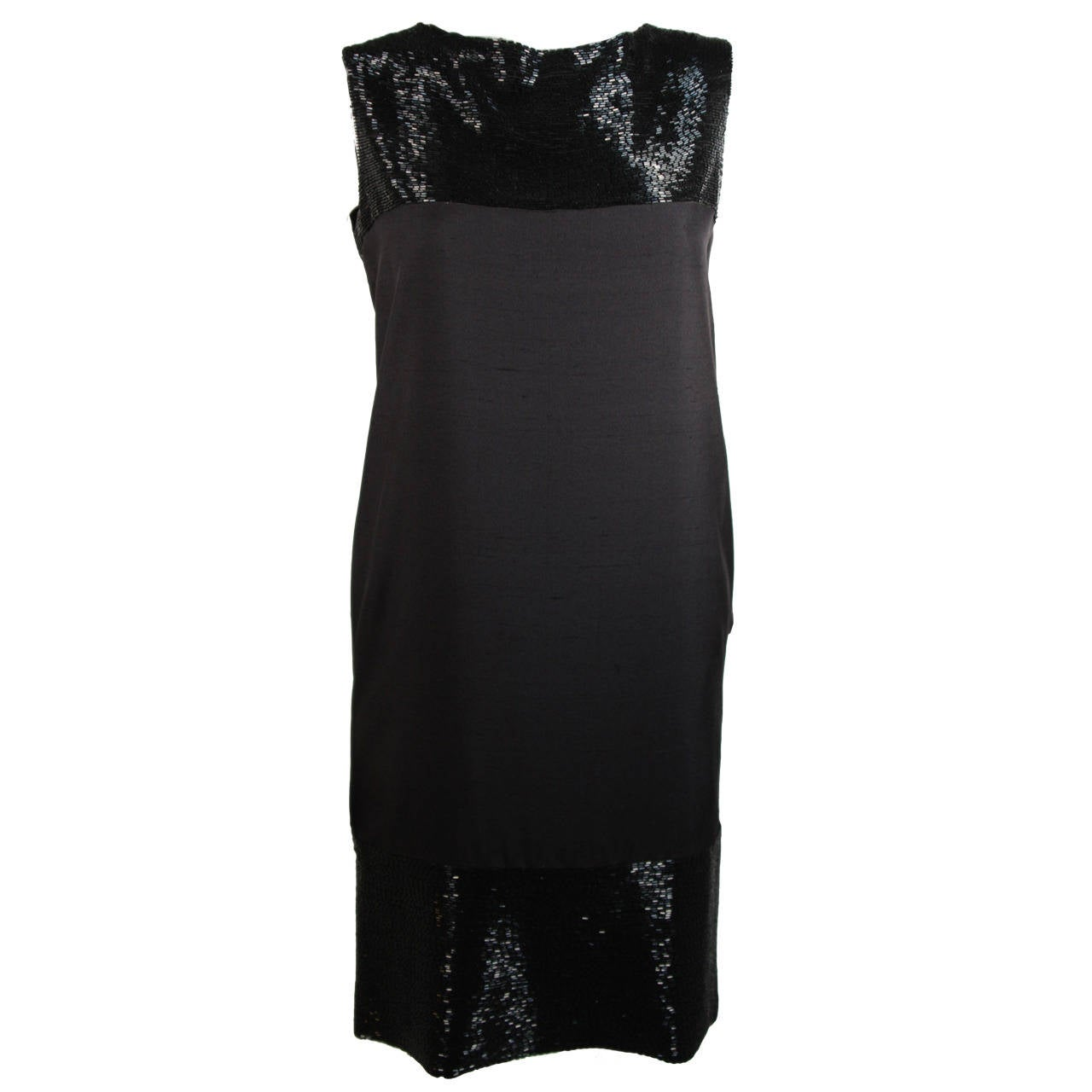 Elizabeth Mason Couture Silk Beaded Cocktail Dress Size 2 (or made to measure)