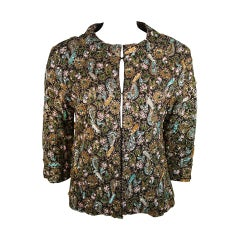 Diane Imports Multi Colored Hand Beaded Sequin Embroidered Jacket Size Medium