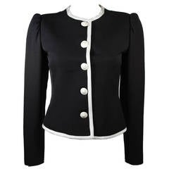 Yves Saint Laurent Asian Inspired Jacket Size 38