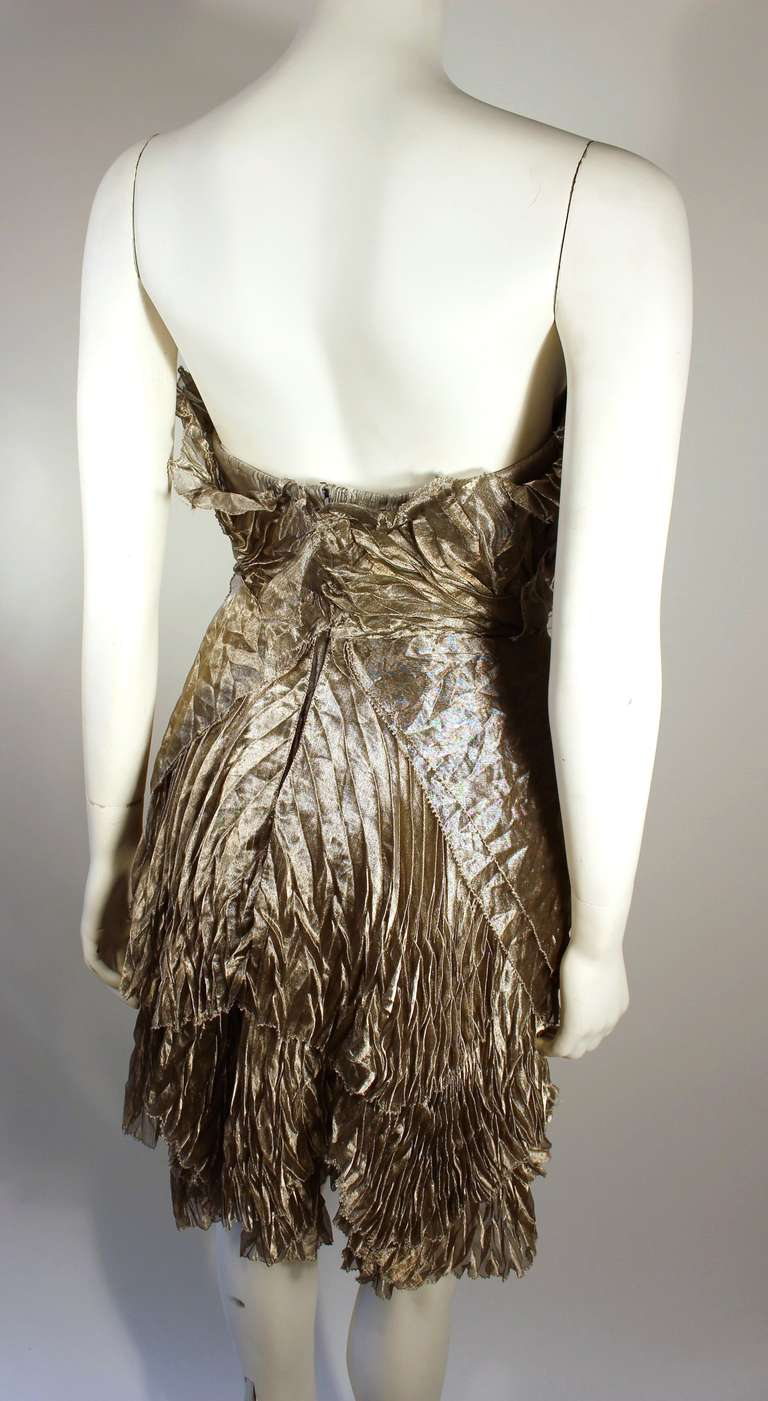 Marchesa Silver Rhinestone Cocktail dress 8