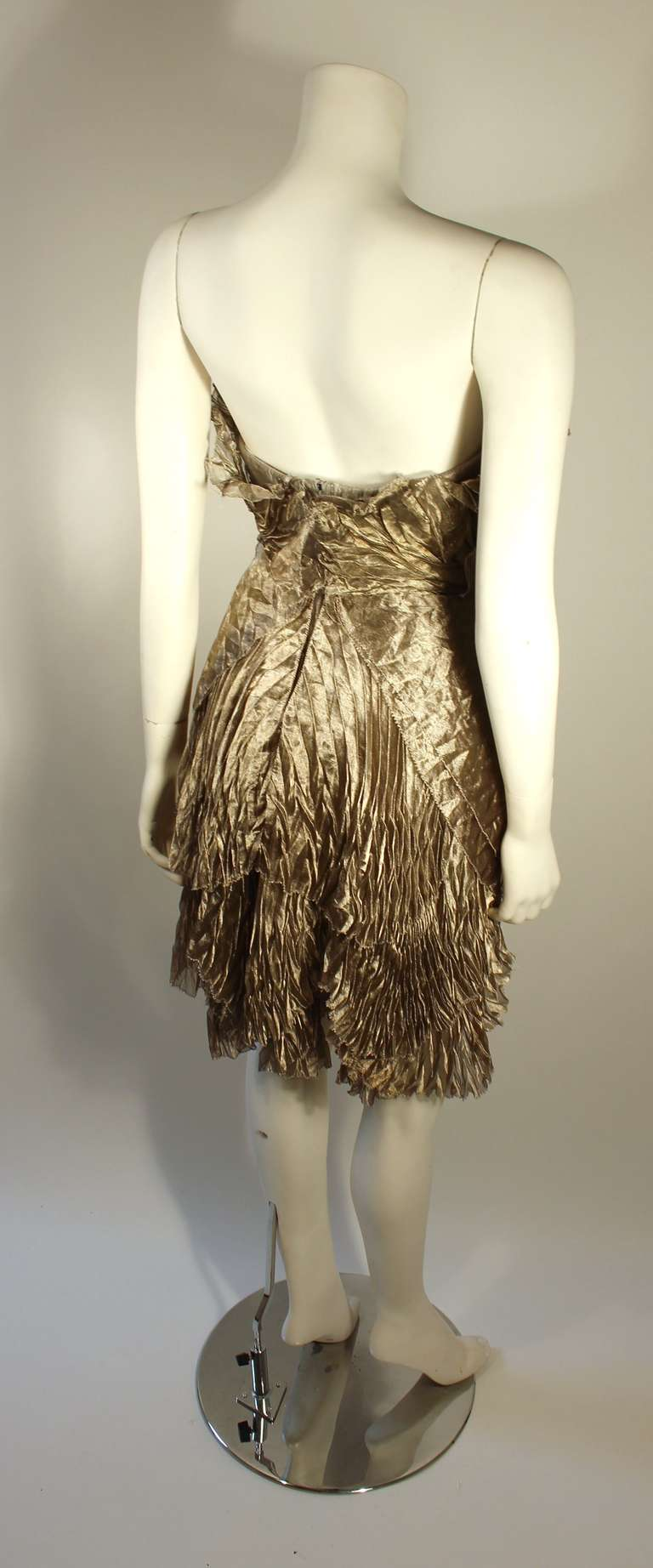 Marchesa Silver Rhinestone Cocktail dress 4