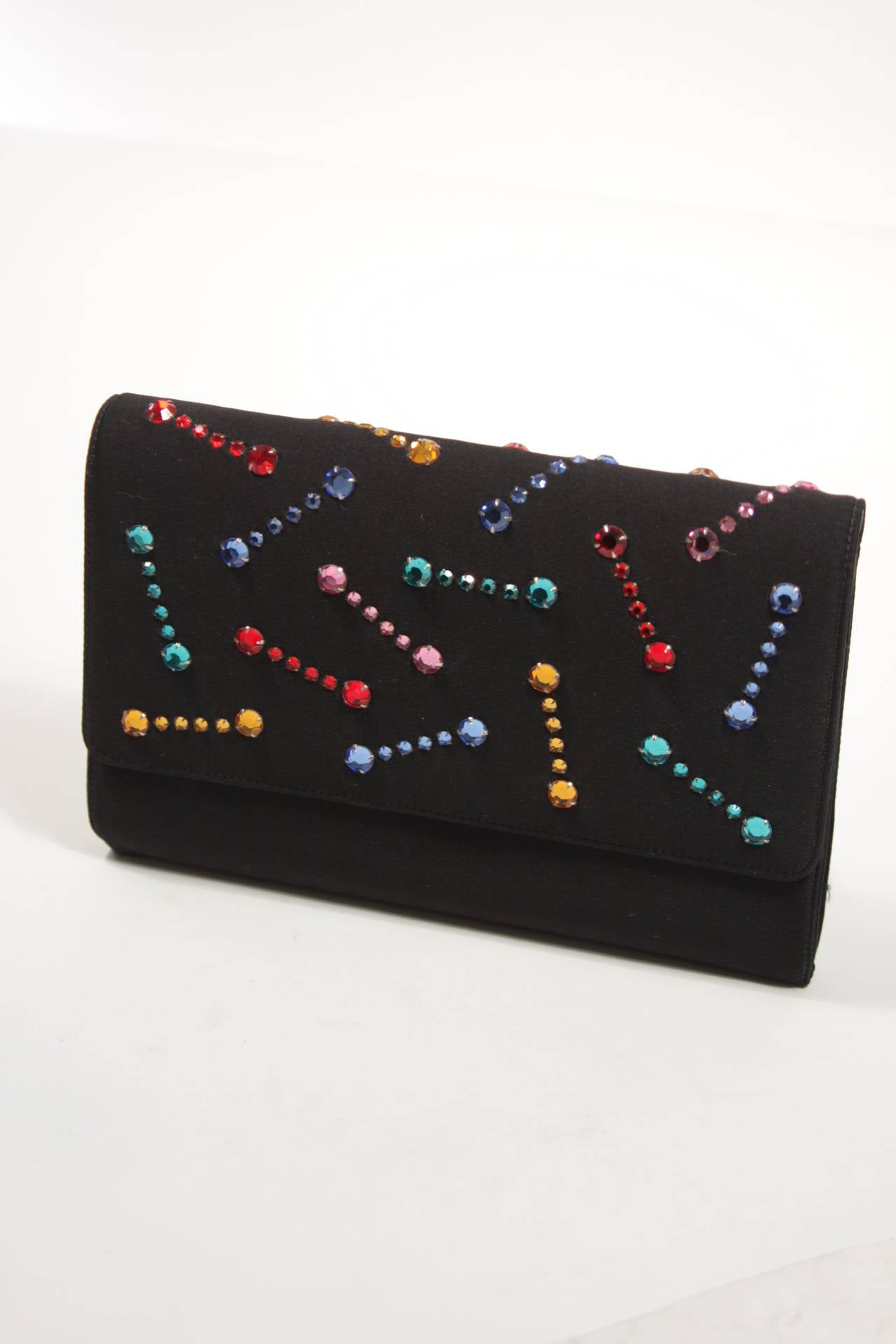 Givenchy Paris Black Clutch with Rhinestones 5