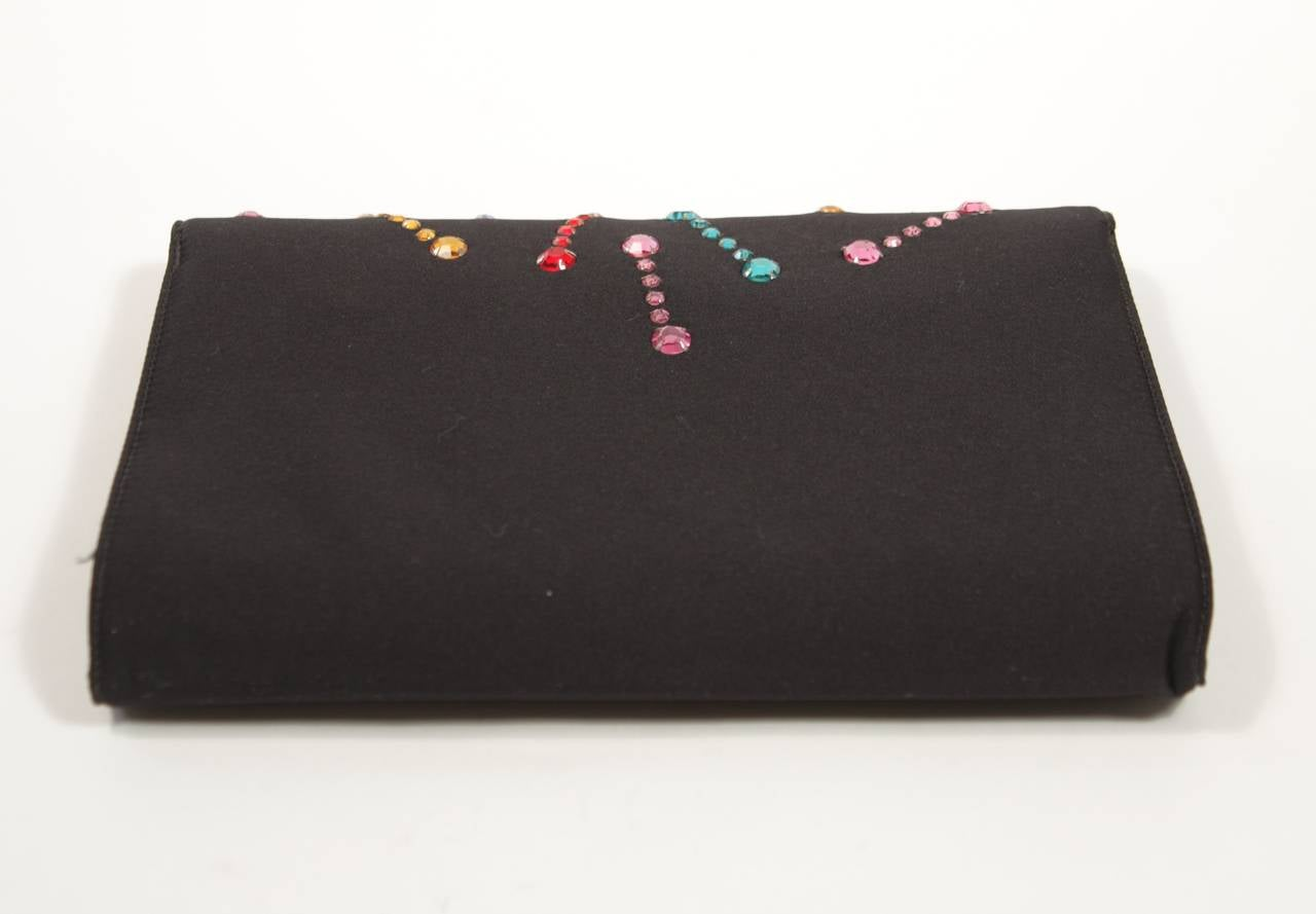 Givenchy Paris Black Clutch with Rhinestones 9