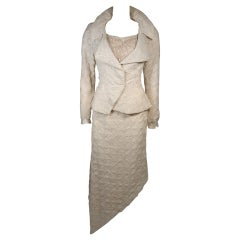 Nolan Miller Attributed Custom Couture Skirt Suit Ensemble Size Small