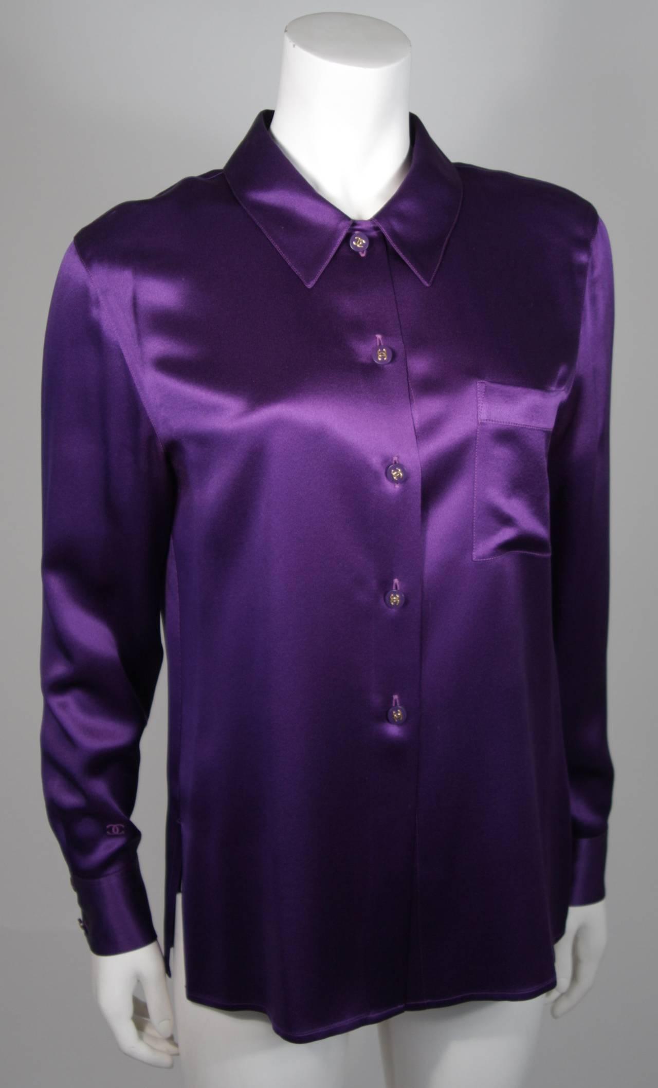 Lavender Silk Blouse