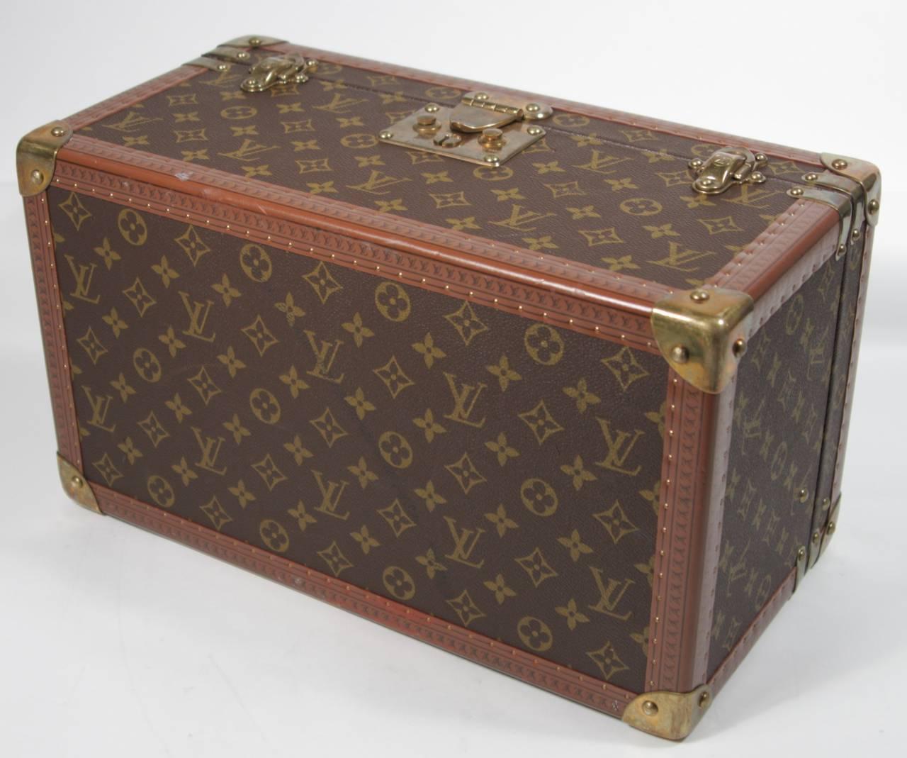 Louis Vuitton Vintage Monogram Cosmetic Travel Train Case  For Sale 4