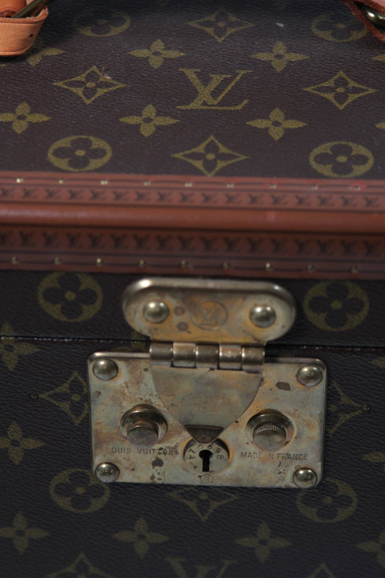Louis Vuitton Vintage Monogram Cosmetic Travel Train Case  3