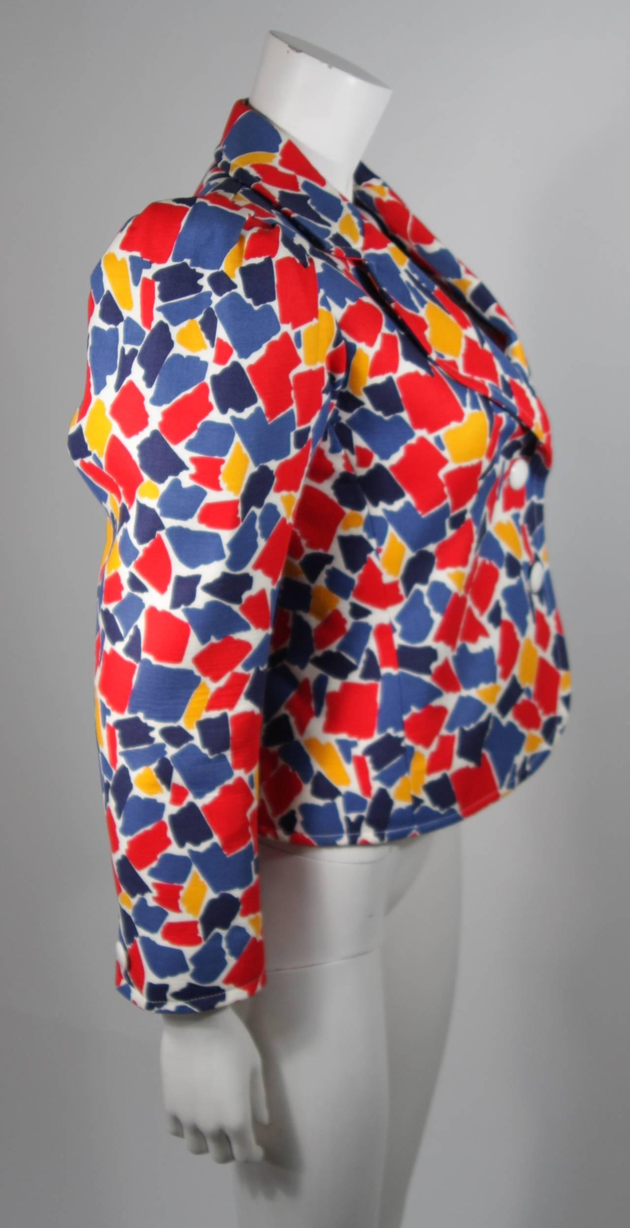 Saint Laurent Multi Primary Color Jacket Size 38 4