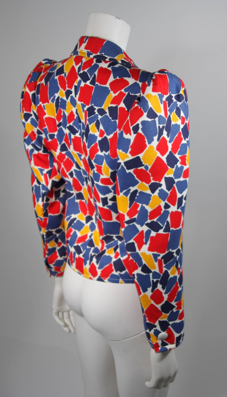Saint Laurent Multi Primary Color Jacket Size 38 5