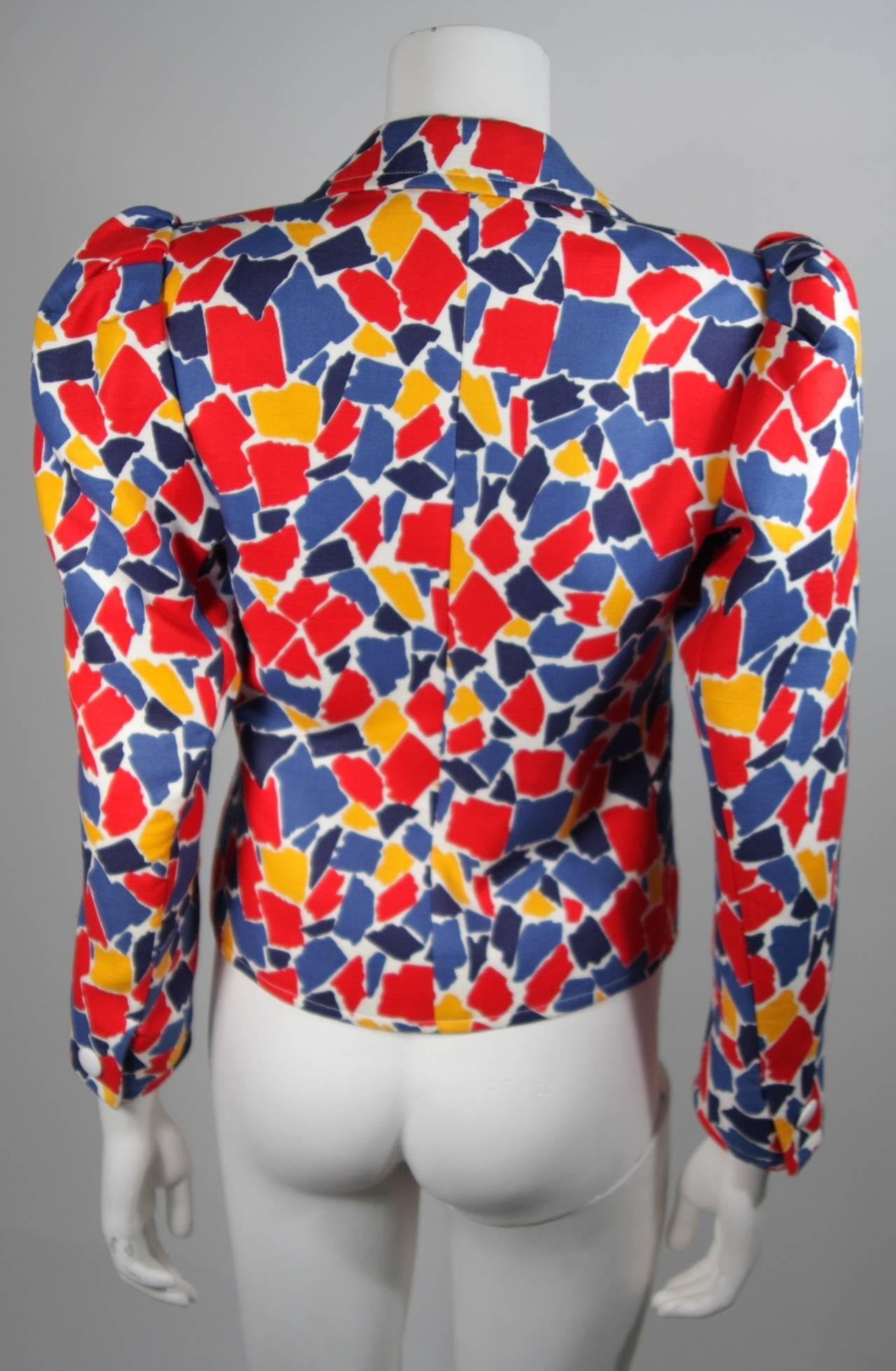 Saint Laurent Multi Primary Color Jacket Size 38 6